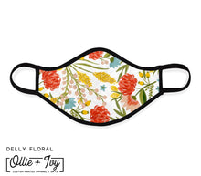 Load image into Gallery viewer, Delly Floral Face Mask