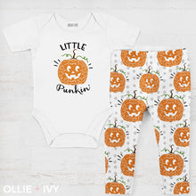 Load image into Gallery viewer, Little Punkin' Halloween Baby Apparel