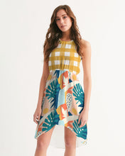 Load image into Gallery viewer, Modern Affinity Gingham Hi-Lo Hem Halter Dress