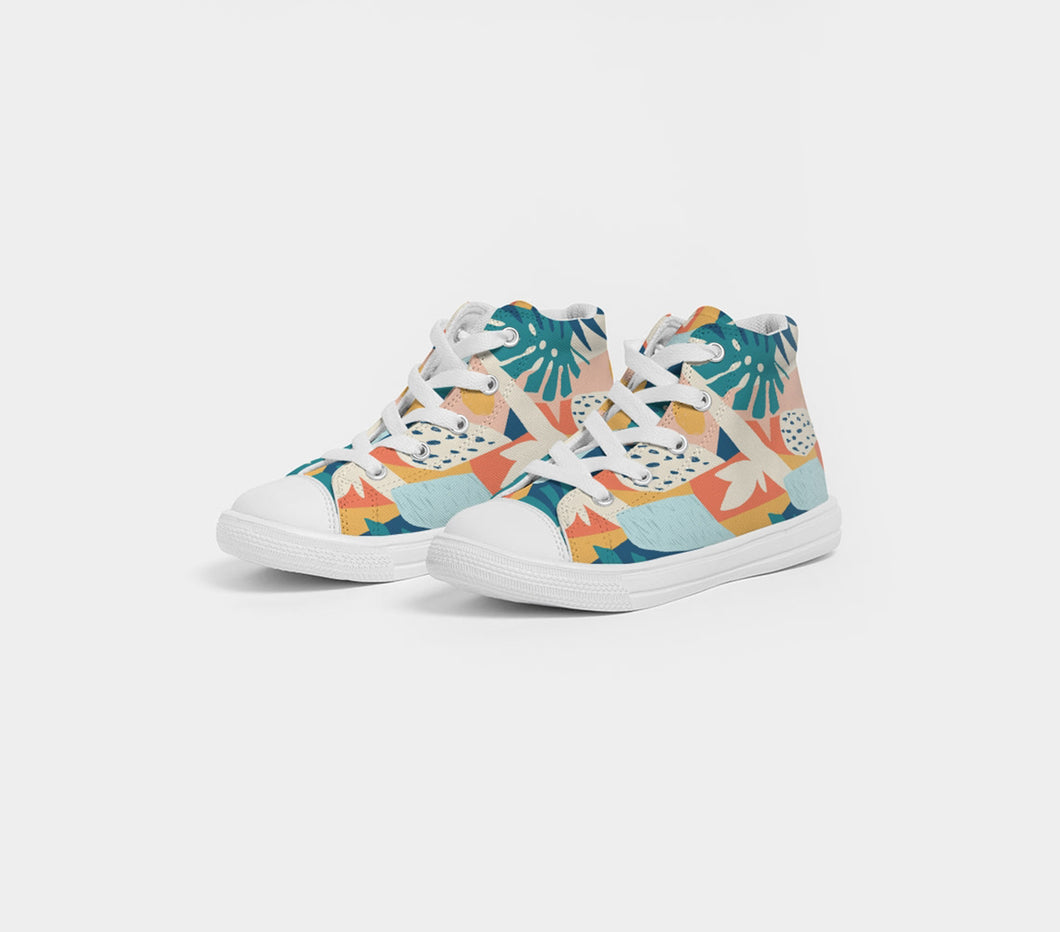 Modern Affinity Kids High Top Canvas Shoes