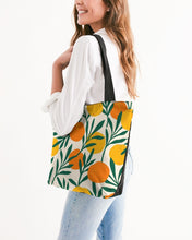 Load image into Gallery viewer, Orange Dream Canvas Zip Tote