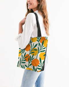 Orange Dream Canvas Zip Tote