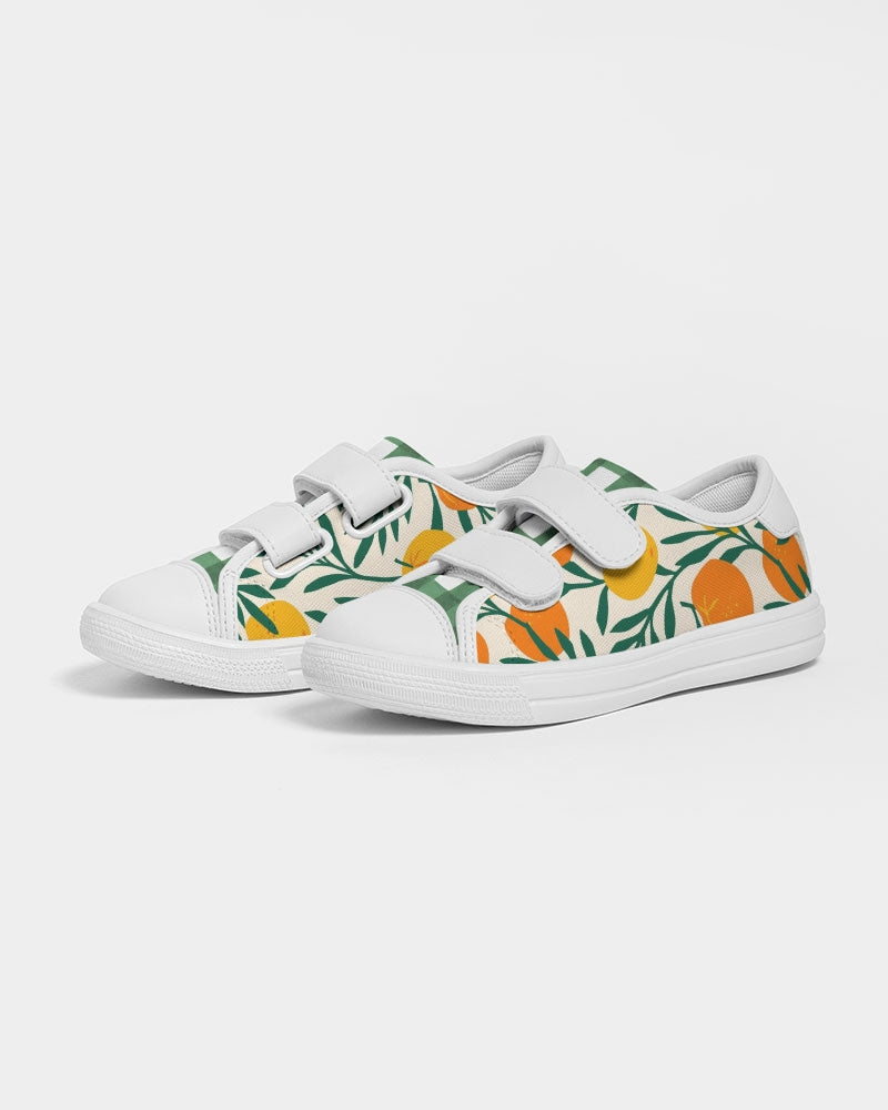 Orange Dream Kid's Velcro Sneakers
