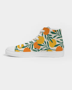 Orange Dream Men's High-Top Canvas Sneaker