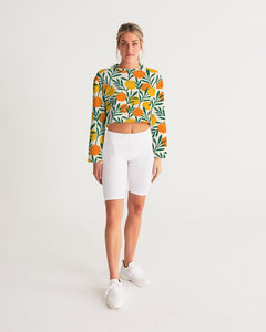 Orange Dream Cropped Sweatshirt