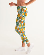 Load image into Gallery viewer, Orange Dream Gingham Women's Yoga Pants
