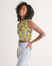 Load image into Gallery viewer, Orange Dream Twist-Front Cropped Tank Top