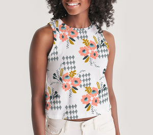 Opie Floral Cropped Tank Top