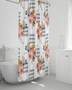 Opie Flower Shower Curtain