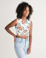 Load image into Gallery viewer, Opie Floral Twist-Front Cropped Tank Top