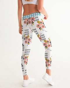 Opie Floral Gingham Women's Yoga Pants