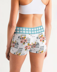 Opie Floral Gingham Yoga Shorts