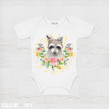 Load image into Gallery viewer, Ravishing Raccoon Baby Onesie