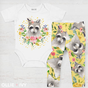 Ravishing Raccoon Baby Onesie