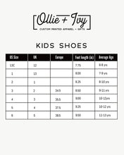 Load image into Gallery viewer, Opie Floral Gingham Kid's High Top Canvas Shoes