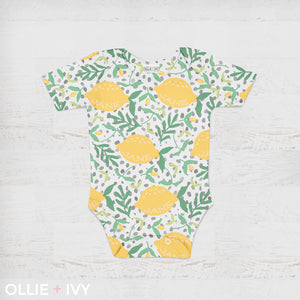 Sweet Lemon Drop Baby Onesie