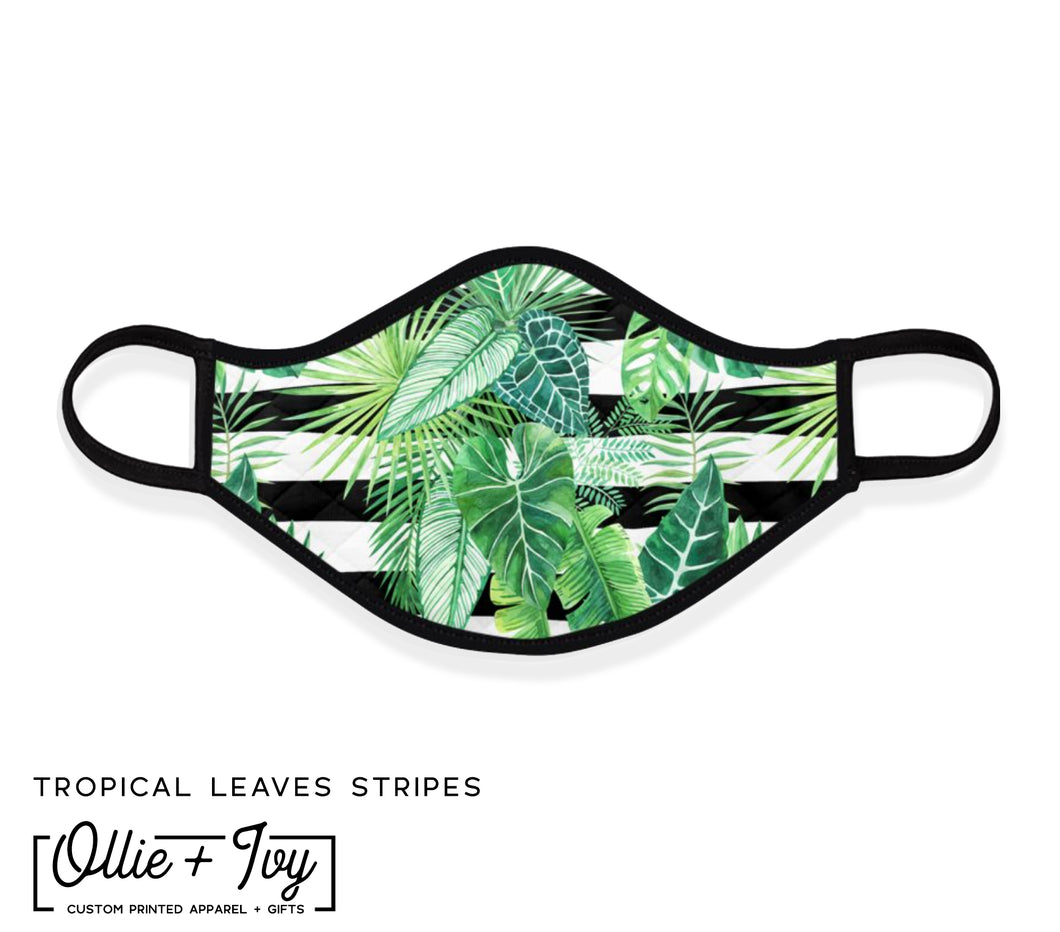 Tropical Leaves Face Mask
