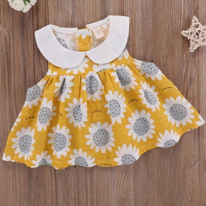 Florence Peter Pan Collar Sunflower Sun Dress