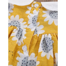 Load image into Gallery viewer, Florence Peter Pan Collar Sunflower Sun Dress