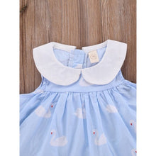 Load image into Gallery viewer, Molly Peter Pan Collar Swan Sun Dress