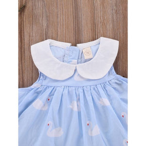 Molly Peter Pan Collar Swan Sun Dress