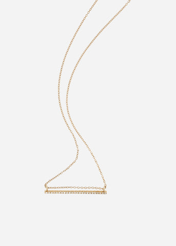 Collar Luna menguante horizontal – oro de 14K con diamantes