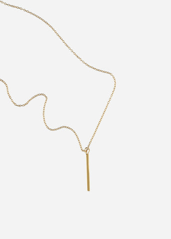 Collar Luna menguante vertical – oro 14K