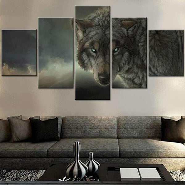 3d wolf painting