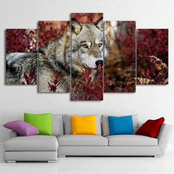 canvas painting wolf