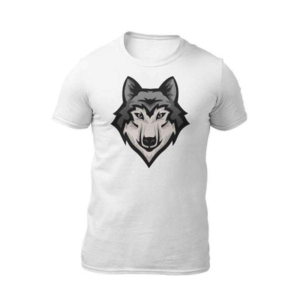 geometric wolf head t shirt