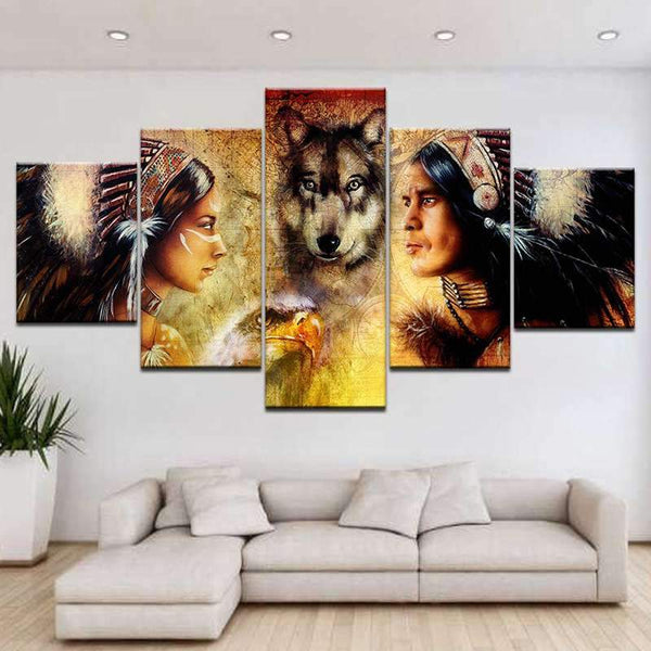 indian wolf paintings
