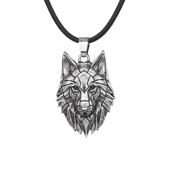 origami wolf necklace
