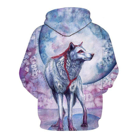 pink and blue wolf hoodie