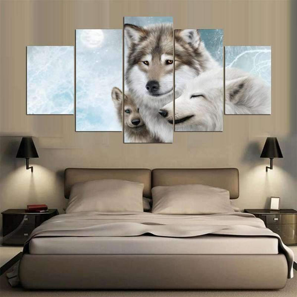 snow wolf canvas