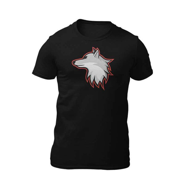 t shirt with wolf design