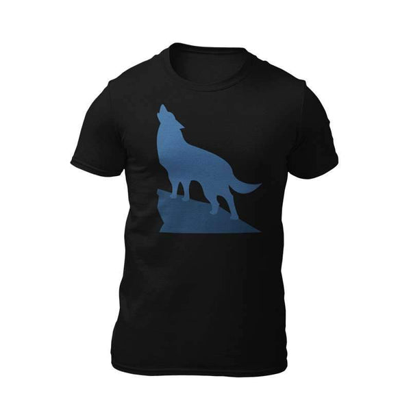 t shirt wolf howling at moon
