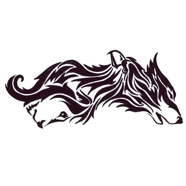 tribal wolf tattoo shoulder