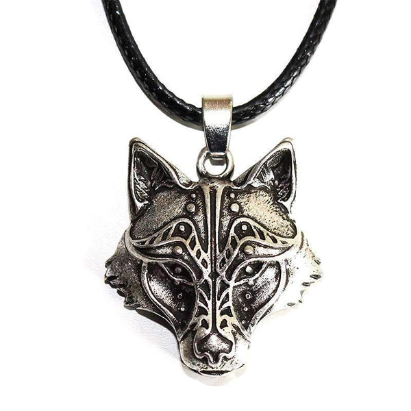 vintage wolf necklace