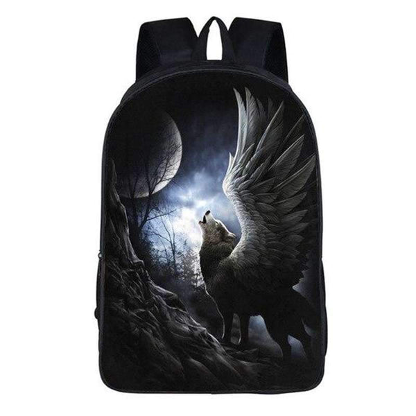 white wolf backpack