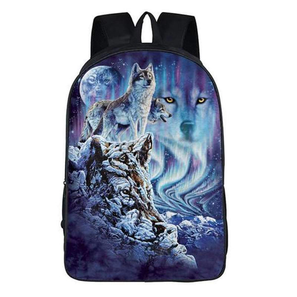 wolf backpack 3d