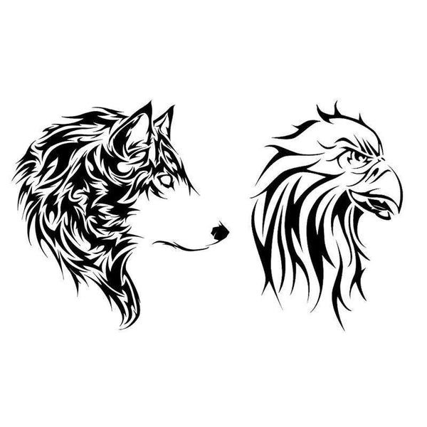 wolf and eagle tattoo