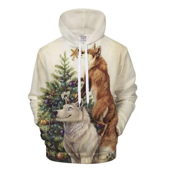 wolf christmas sweater