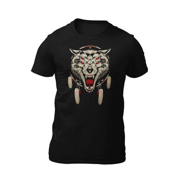 wolf dream catcher tee shirt