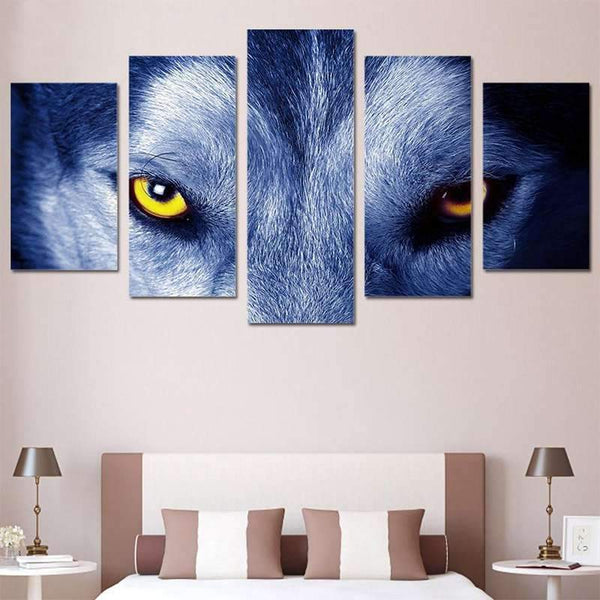 wolf eyes painting