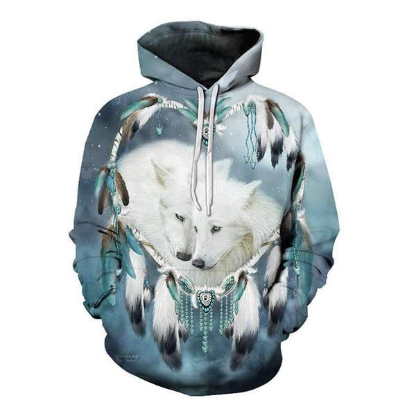wolf feather hoodie