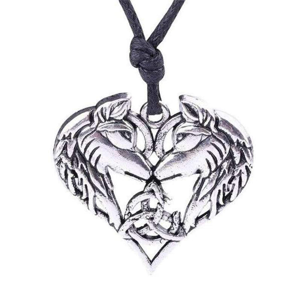 wolf heart necklace