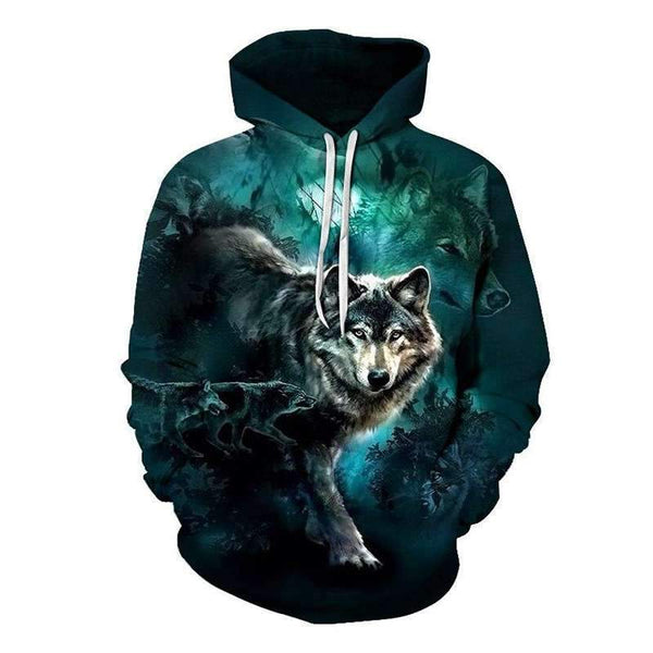 wolf hoodie youth