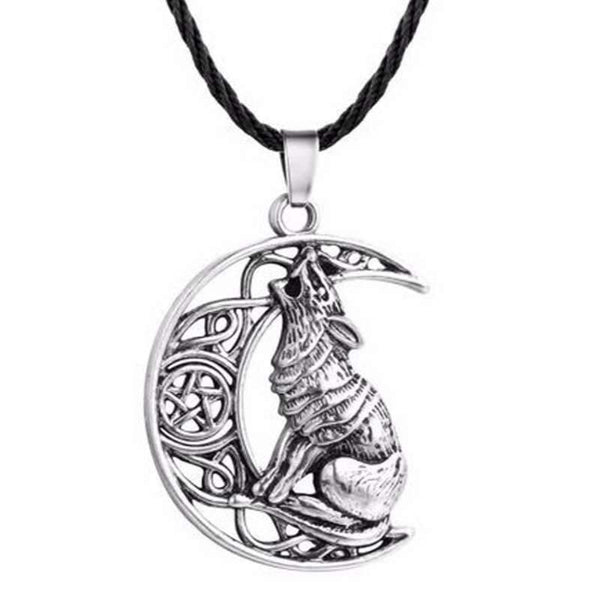 wolf moon necklace