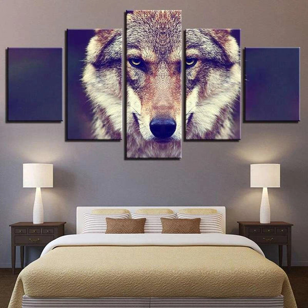 wolf painting face
