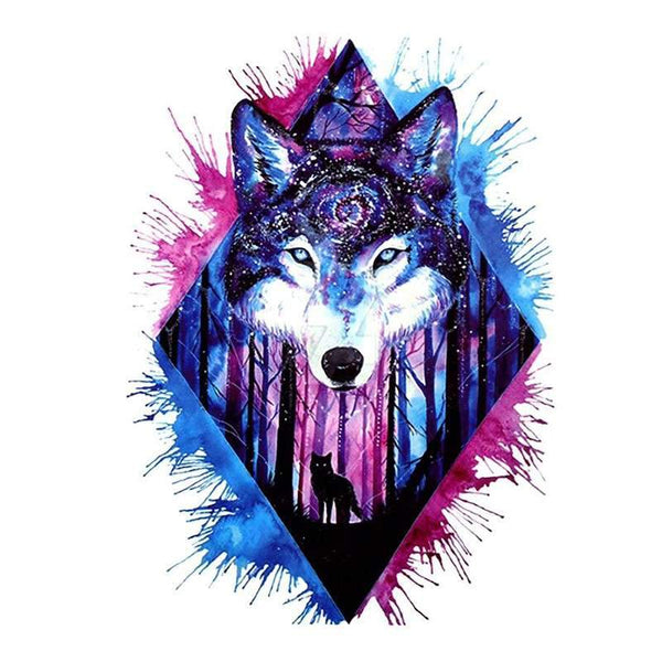 wolf pattern tattoo